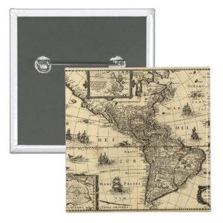 mapa del siglo XVII de las Américas