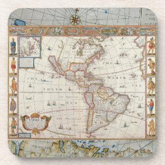 Mapa del siglo XVII de las Américas Posavasos