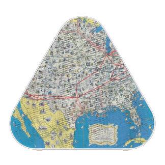 Mapa del sistema de American Airlines Altavoz Bluetooth