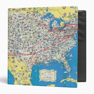 "Mapa del sistema de American Airlines Carpeta 1 1/2"""