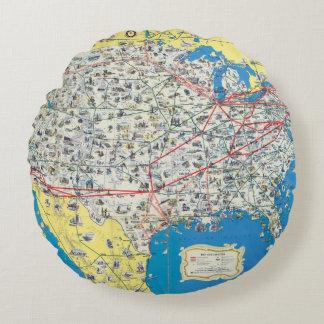 Mapa del sistema de American Airlines Cojín Redondo