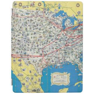Mapa del sistema de American Airlines Cover De iPad
