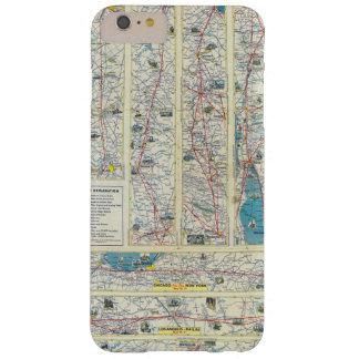 Mapa del sistema de American Airlines del dorso Funda De iPhone 6 Plus Barely There