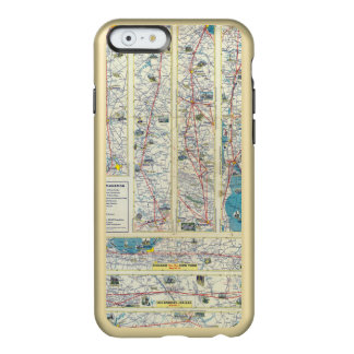 Mapa del sistema de American Airlines del dorso Funda Para iPhone 6 Plus Incipio Feather Shine