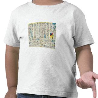 Mapa del sistema de American Airlines del dorso Camisetas