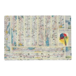 Mapa del sistema de American Airlines del dorso Salvamanteles