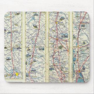 Mapa del sistema de American Airlines del dorso Alfombrillas De Ratón