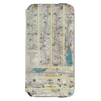 Mapa del sistema de American Airlines del dorso Funda Cartera Para iPhone 6 Watson