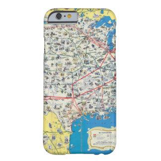 Mapa del sistema de American Airlines Funda De iPhone 6 Barely There