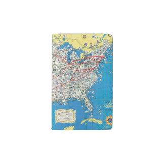 Mapa del sistema de American Airlines Funda Para Libreta Y Libreta Pequeña Moleskine
