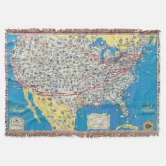 Mapa del sistema de American Airlines Manta