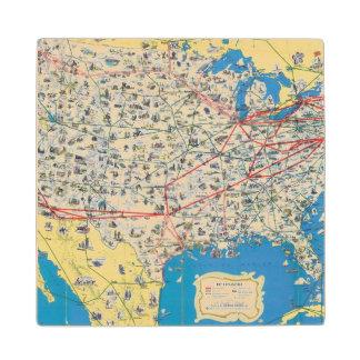 Mapa del sistema de American Airlines Posavasos De Madera