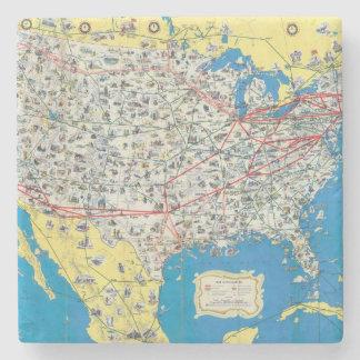 Mapa del sistema de American Airlines Posavasos De Piedra