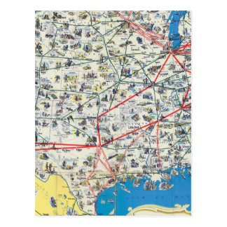 Mapa del sistema de American Airlines Postal