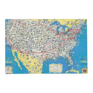 Mapa del sistema de American Airlines Salvamanteles