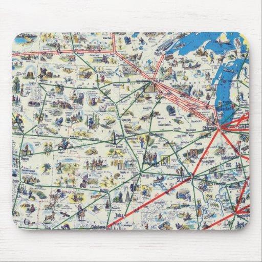 Mapa del sistema de American Airlines Alfombrilla De Raton