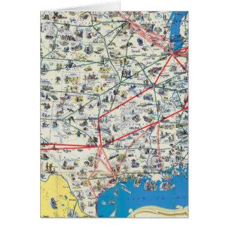 Mapa del sistema de American Airlines Tarjeta De Felicitación