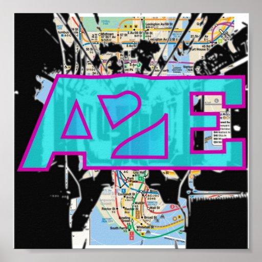 Mapa del subterráneo de A2E Impresiones