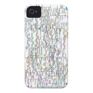 Mapa del subterráneo de Seul iPhone 4 Case-Mate Fundas