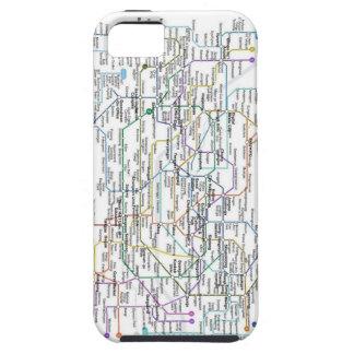 Mapa del subterráneo de Seul iPhone 5 Carcasas