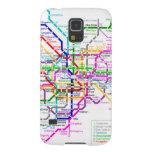 Mapa del subterráneo de Tokio Japón Carcasas Para Galaxy S5