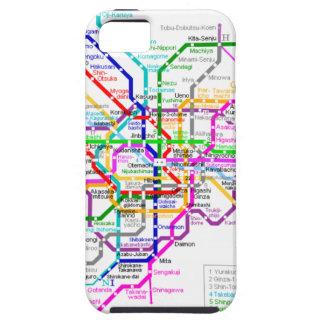 Mapa del subterráneo de Tokio Japón iPhone 5 Carcasa