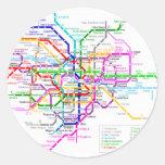 Mapa del subterráneo de Tokio Japón Pegatina Redonda
