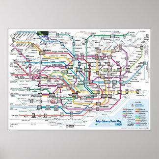 Mapa del subterráneo de Tokio Póster