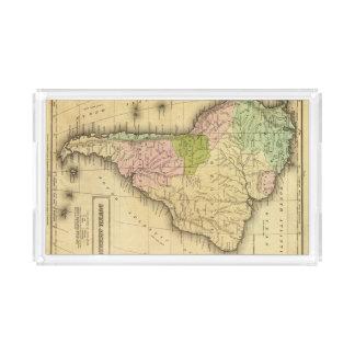 Mapa del sur de AmericaOlney Bandeja Rectangular