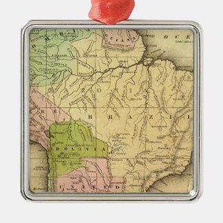 Mapa del sur de AmericaOlney Adorno Cuadrado Plateado