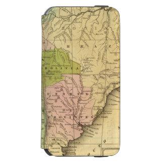 Mapa del sur de AmericaOlney Funda Billetera Para iPhone 6 Watson