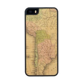Mapa del sur de AmericaOlney Funda De Arce Carved® Para iPhone 5 Slim