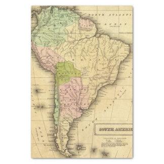 Mapa del sur de AmericaOlney Papel De Seda Pequeño