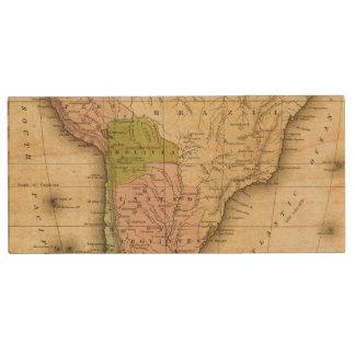 Mapa del sur de AmericaOlney Pen Drive De Madera USB 2.0