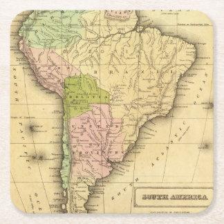 Mapa del sur de AmericaOlney Posavasos Desechable Cuadrado