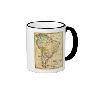 Mapa del sur de AmericaOlney Taza A Dos Colores