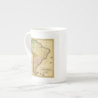 Mapa del sur de AmericaOlney Taza De Porcelana
