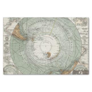 Mapa del sur de la región polar papel de seda pequeño