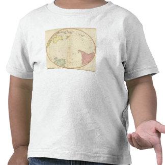 Mapa del sur del hemisferio camisetas