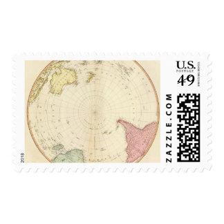 Mapa del sur del hemisferio sellos