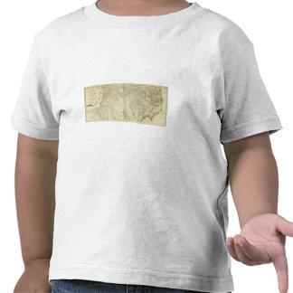 Mapa del sur y de Carolina del Norte Camiseta