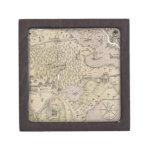 Mapa del terreno áspero caja de recuerdo de calidad