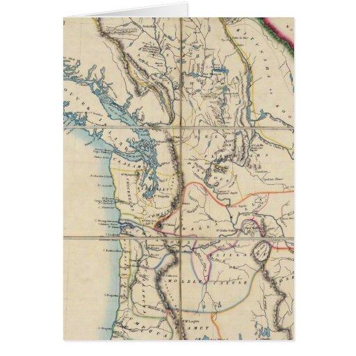 Mapa del territorio 2 de Oregon Tarjeta De Felicitación