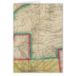 Mapa del territorio de Arkansas Felicitaciones