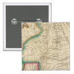 Mapa del territorio de Arkansas Pin Cuadrado