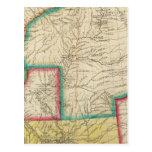 Mapa del territorio de Arkansas Tarjetas Postales