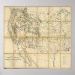Mapa del territorio de los Estados Unidos 2 Impresiones
