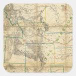 Mapa del territorio de los Estados Unidos 2 Pegatina Cuadrada