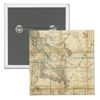 Mapa del territorio de los Estados Unidos 2 Pin Cuadrado