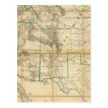 Mapa del territorio de los Estados Unidos 2 Postal